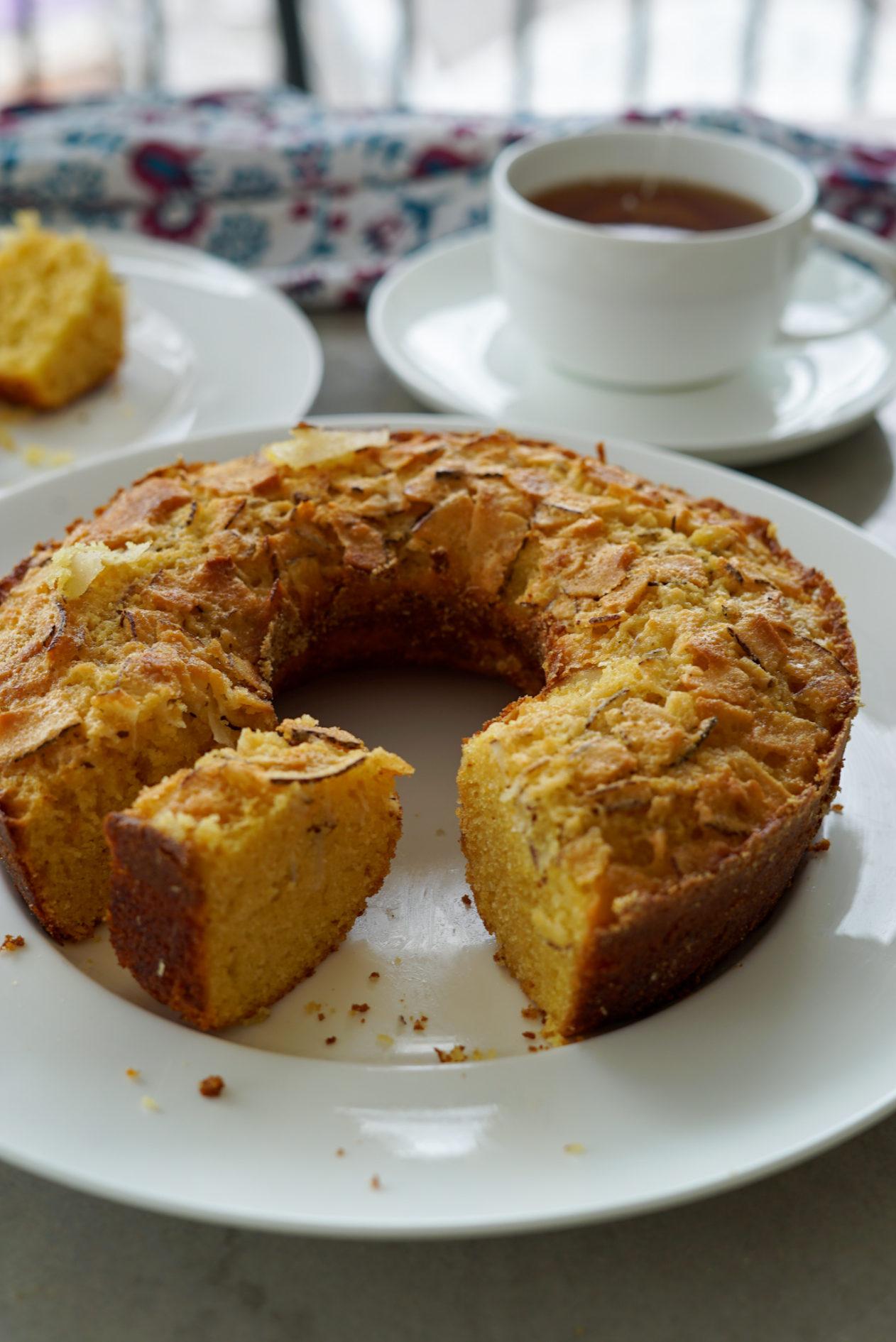 receita simples de bolo de fubá com leite de coco