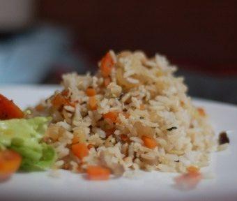 como fazer arroz integral colorido