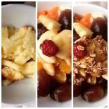 salada de frutas com pão de ló