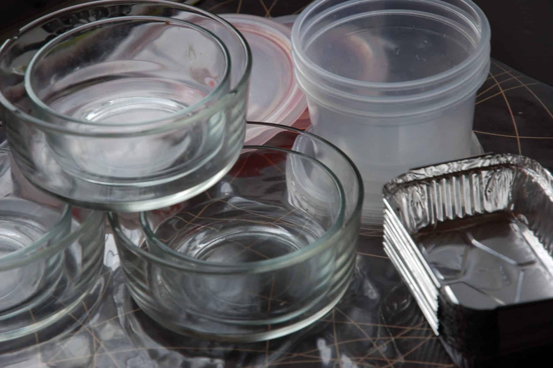 Embalagens para congelar refeições