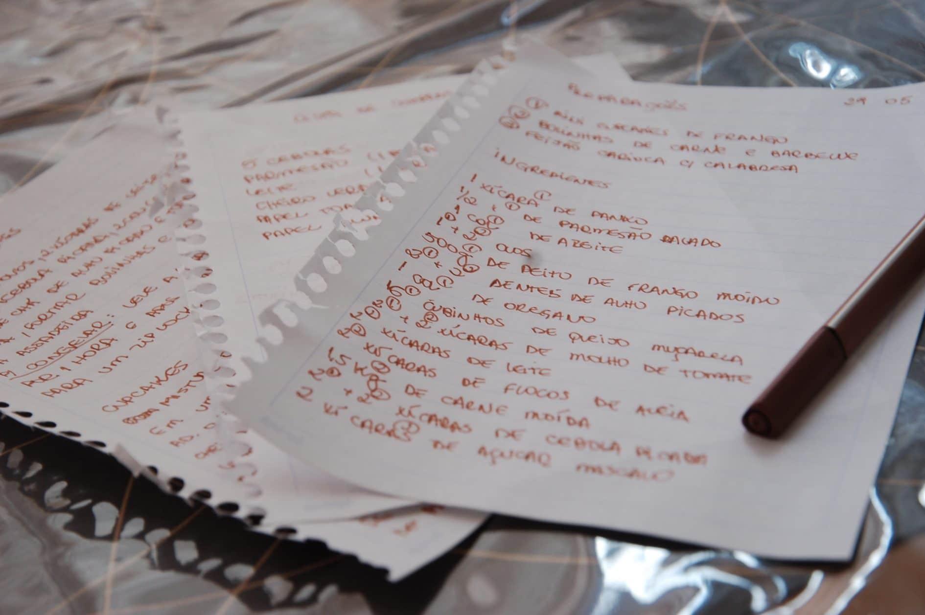 receitas, instruções, plano de ação