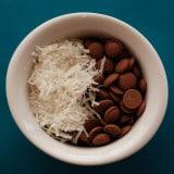mix para pipoca de chocolate e coco