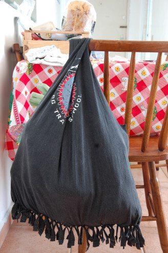 sacola de feira charmosa e sem costura