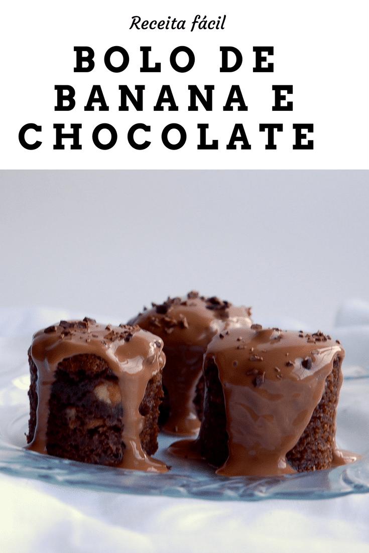 Receita de bolo de banana e chocolate perfeito