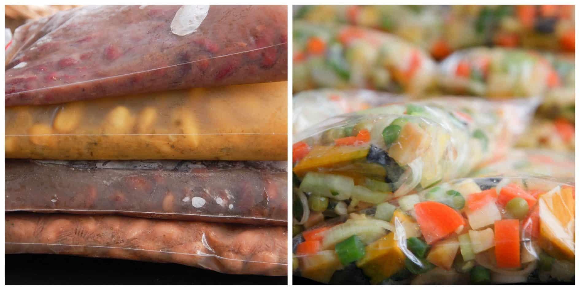 Legumes e feijoes congelados
