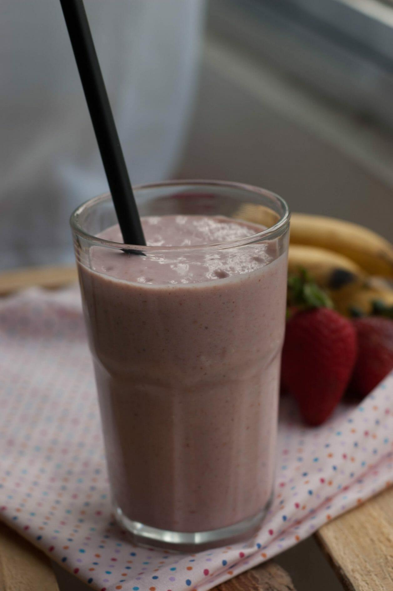 smoothie de aveia e banana