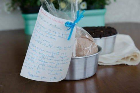 Mix de bolo de chocolate e aveia feito em casa