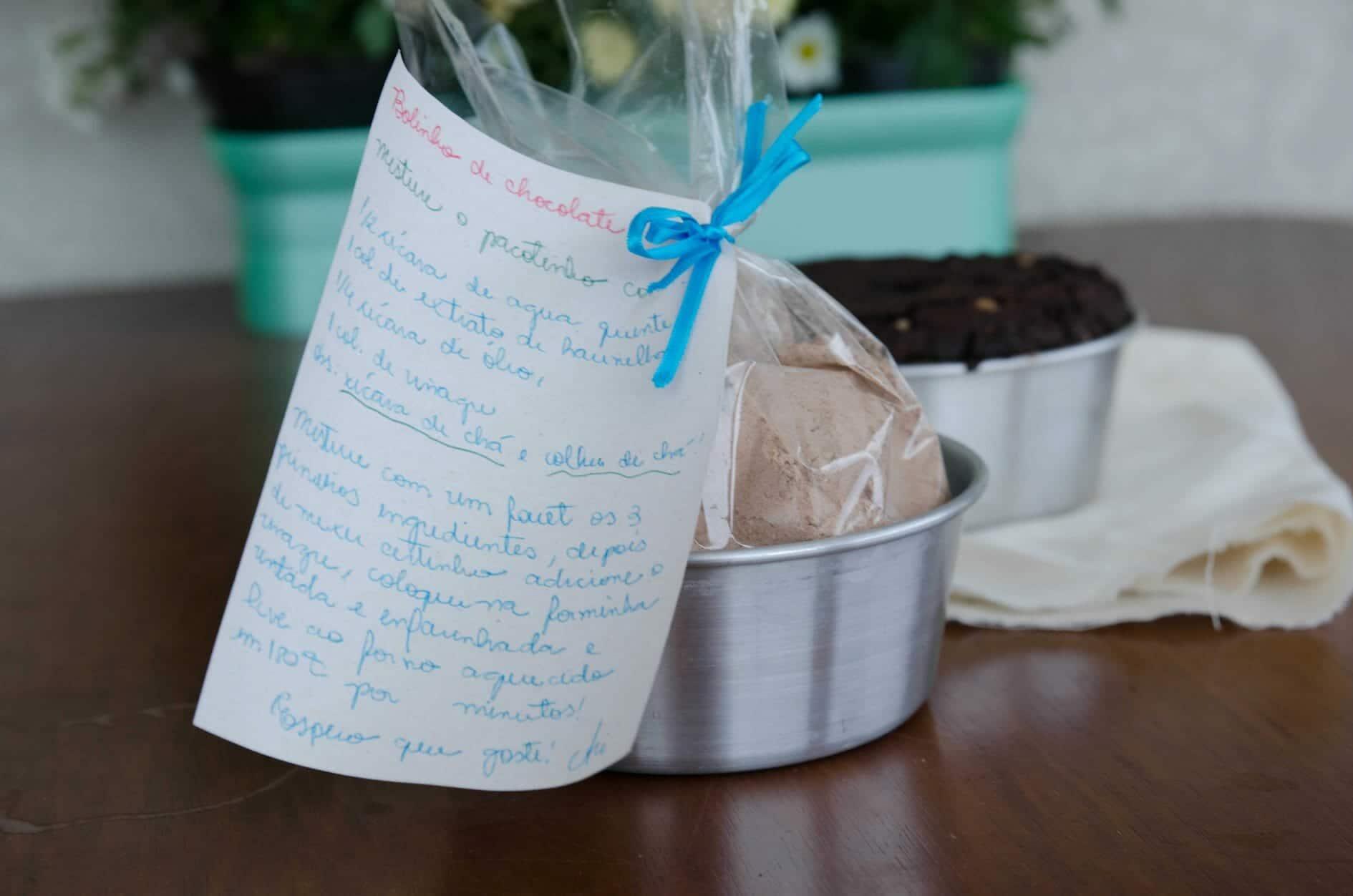Mix pronto para bolo de chocolate – presentinho amoroso