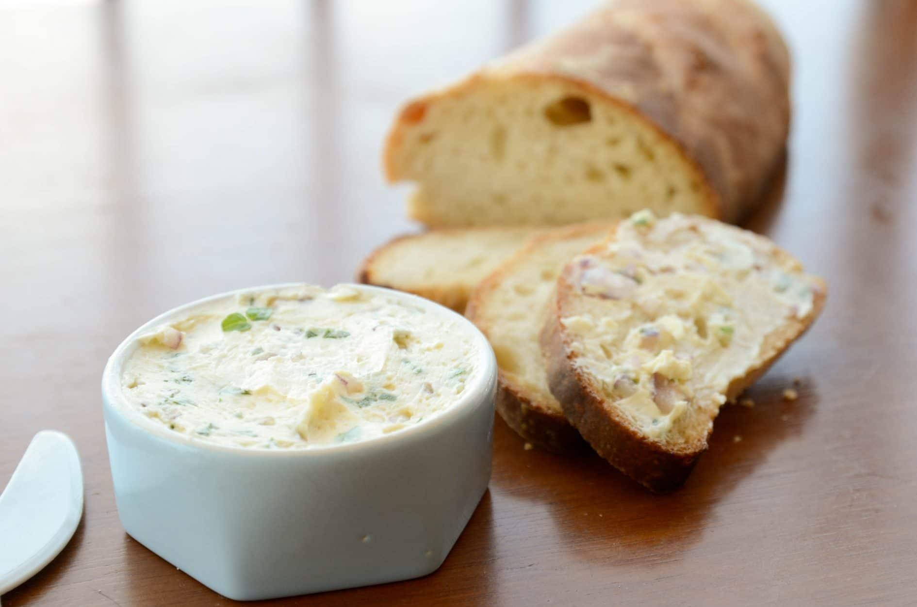 receita manteiga composta de manjericao