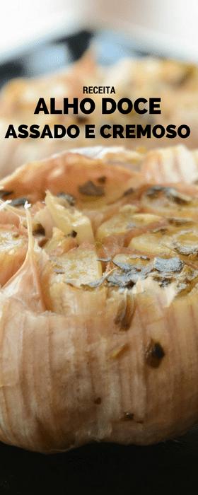 Receita de alho assado doce e cremoso