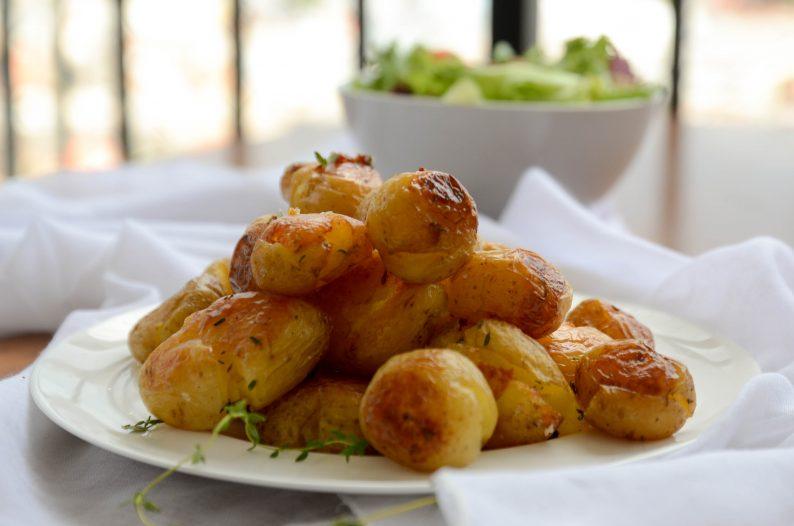 receita de batatas ao murro macias por dentro e com casquinha dourada