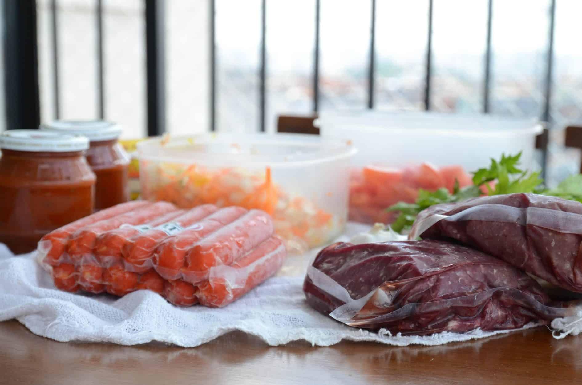 3 receitas para congelar com carne moída - pacote a vácuo para evitar cristais de gelo