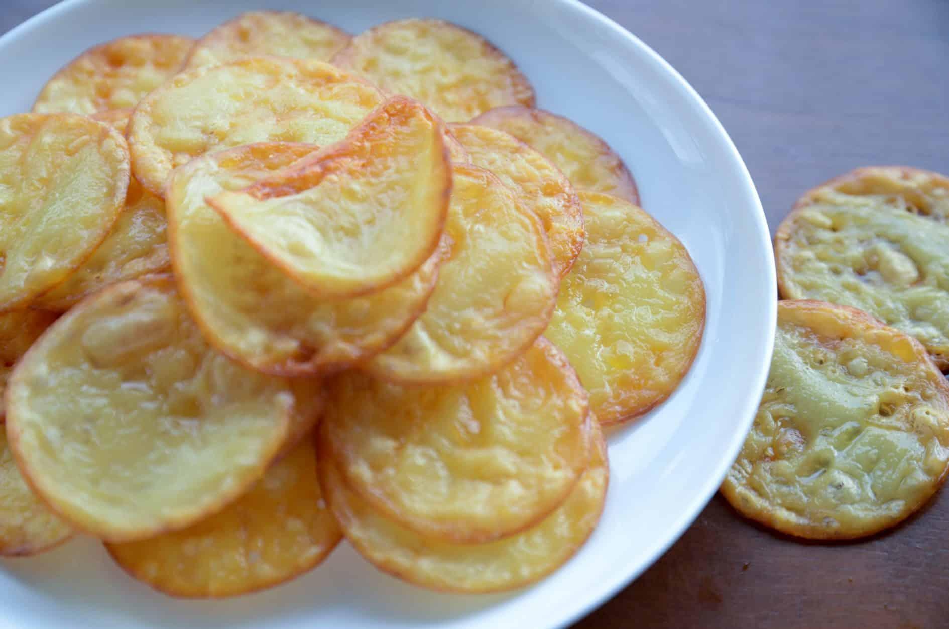 receita de queijo provolone desidratado chips