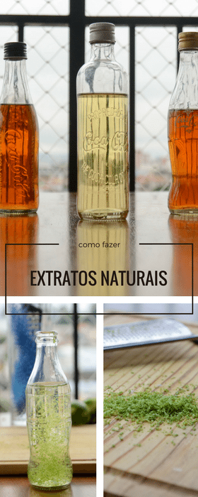 Como fazer extratos naturais em casa
