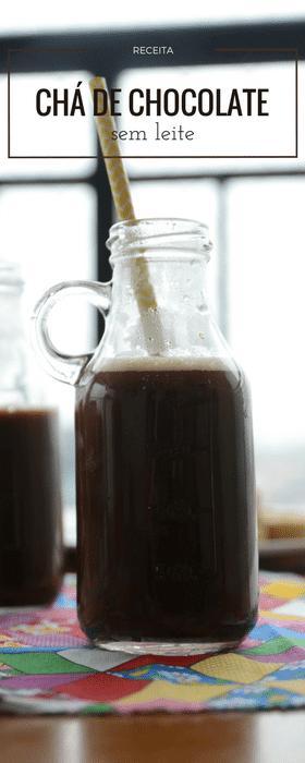 Receita de chá de chocolate (sem leite)