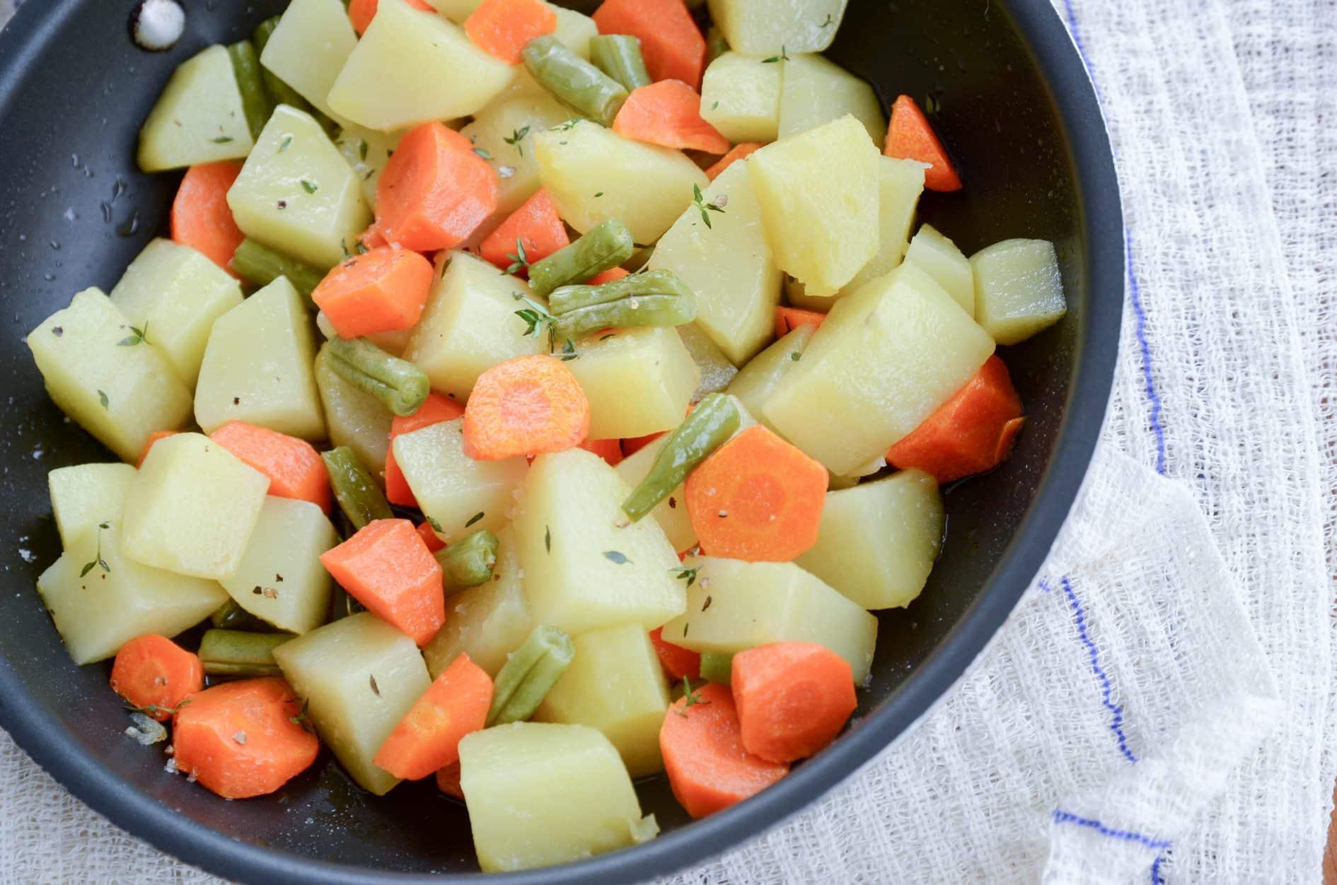 como fazer legumes salteados na manteiga