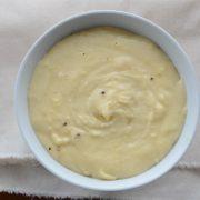 receita de pure de mandioca com queijo bem temperadinho e instruções para congelar