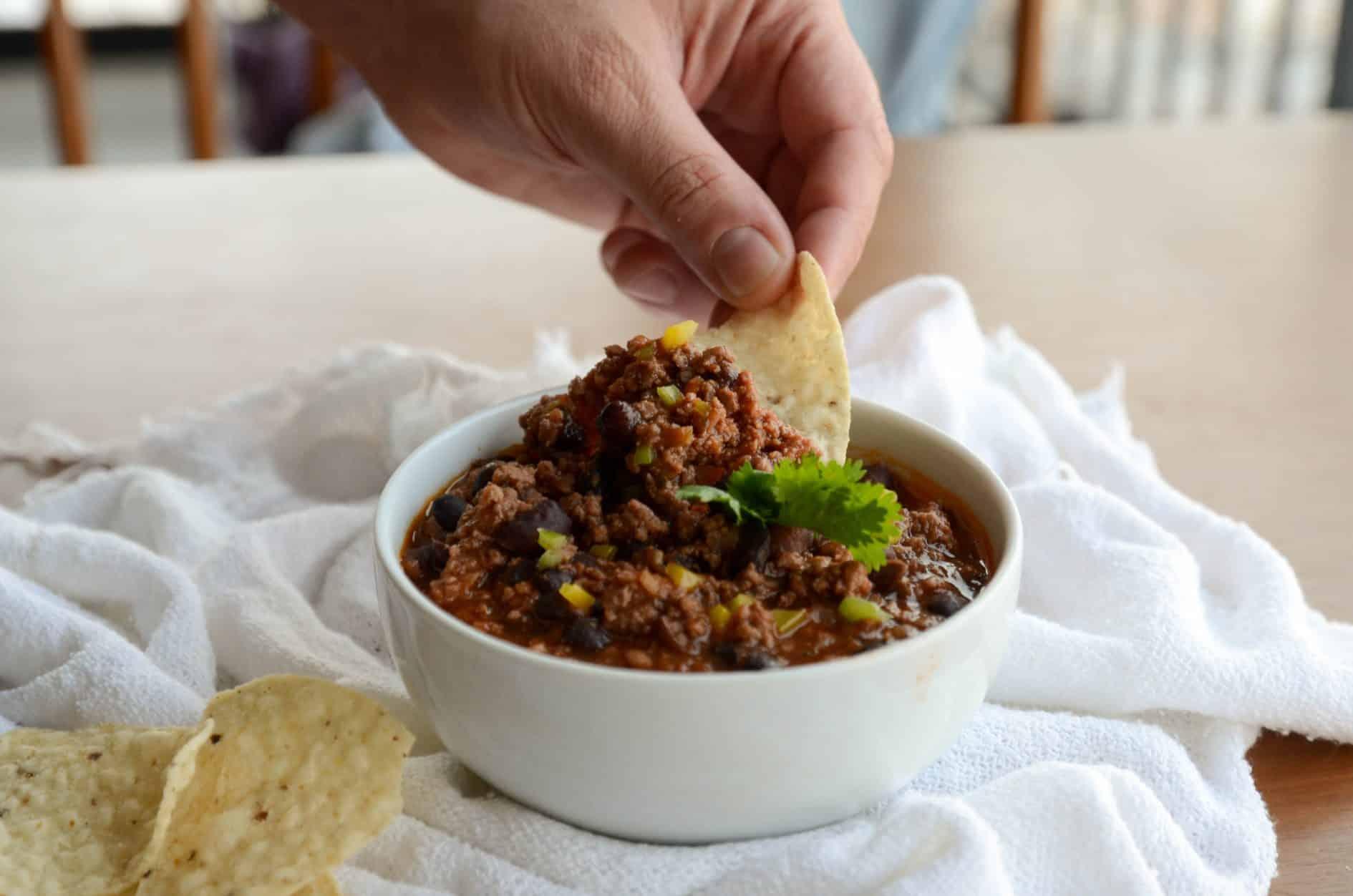 receita de chili beans com feijão preto