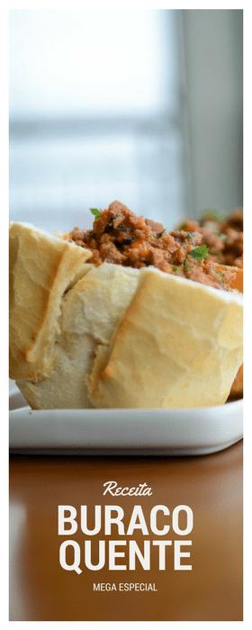 Receita de Buraco Quente, o pão com carne moída mais gostoso do mundo!
