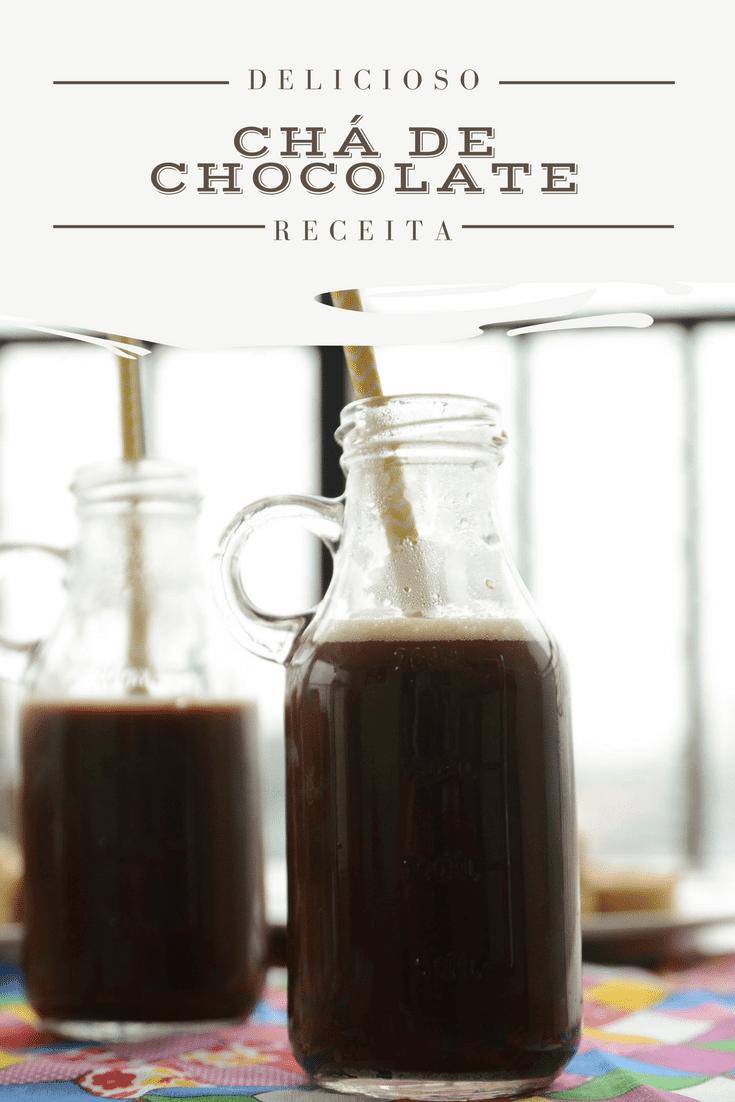 receita fácil de chá de chocolate, chocolate quente sem leite - receita de bebida para festa junina