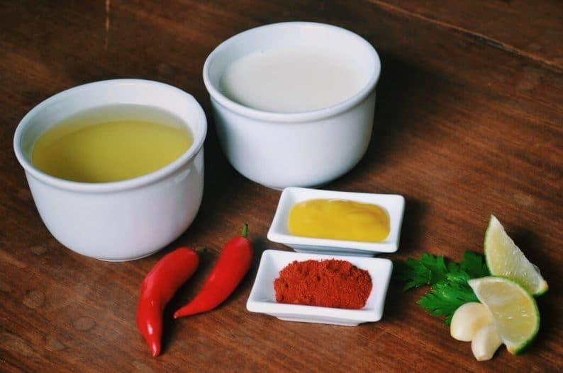 ingredientes para a receita