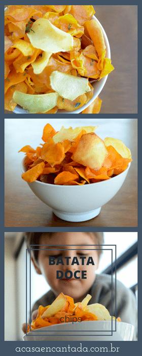 Receita de chips de batata doce super crocante