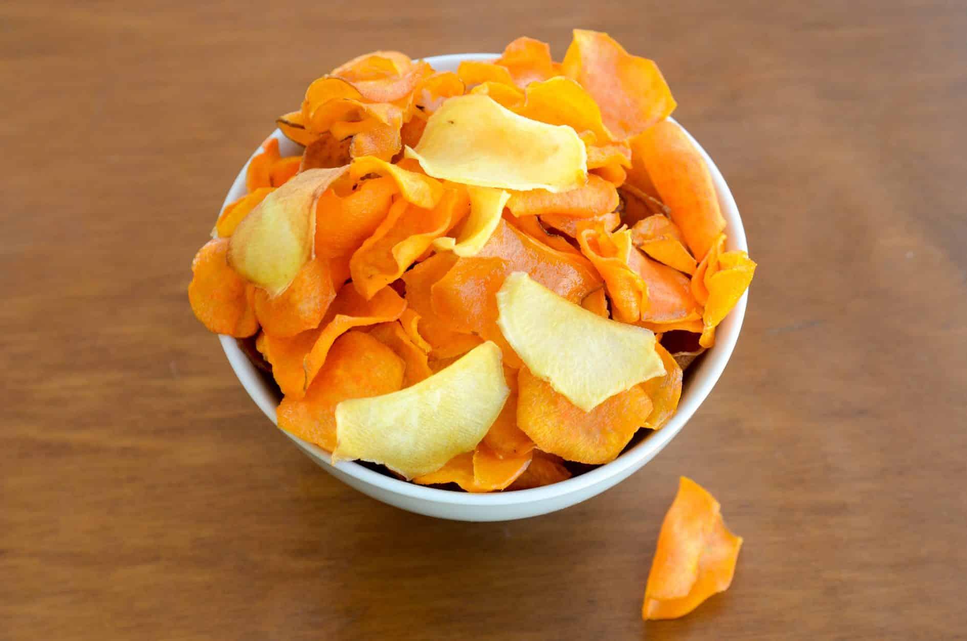 receita de batata doce chips frito