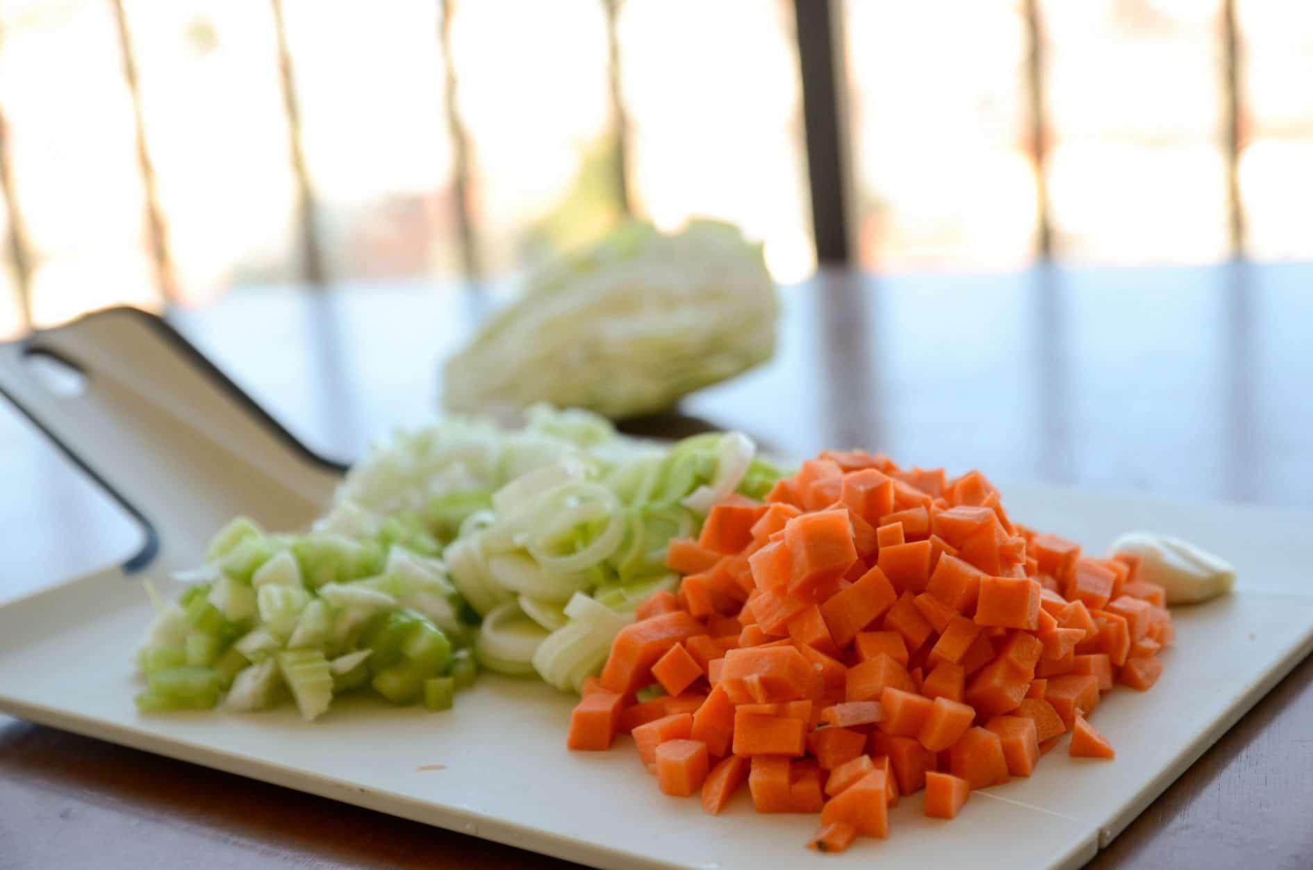 Receita de sopa de batatas com vegetais - ingredientes para a sopa