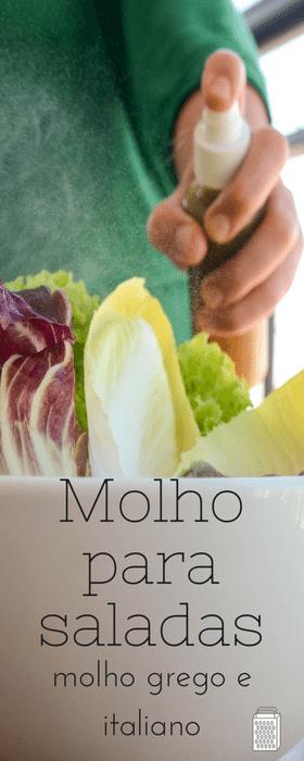 Receita de 2 molhos para saladas caseiro - grego e italiano