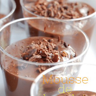 Receita Mousse de chocolate vegana