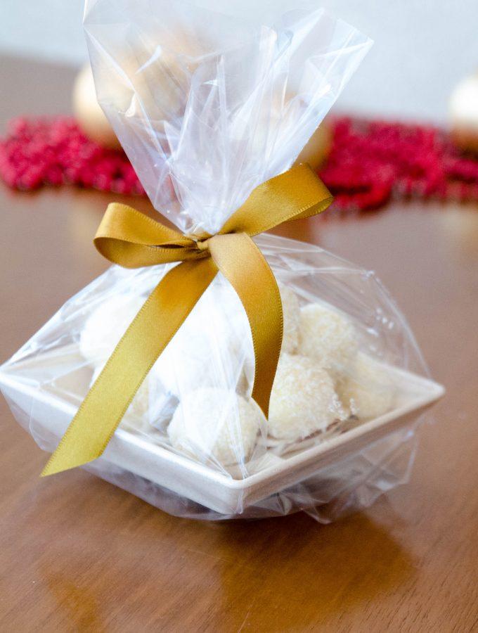 Trufa de chocolate branco e coco – presente feito em casa