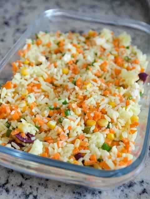 Receita de arroz de forno cremoso