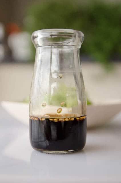 molho para salada de peinos japonesa - sunomono - shoyu, vinagre de arroz, açúcar e gergelim