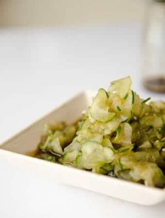 receita de salada de pepino japonesa agridoce - sunomono