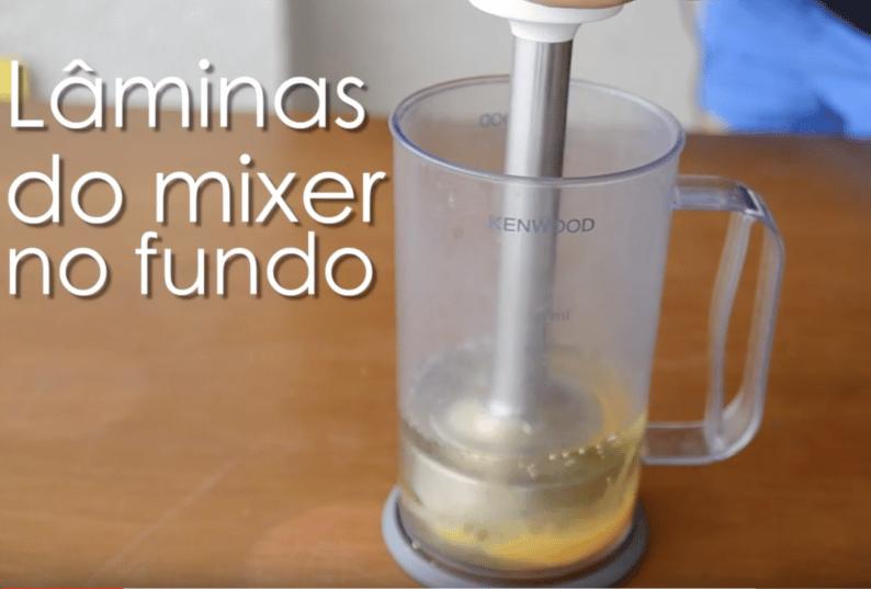 maionese caseira no mixer em 1 minuto