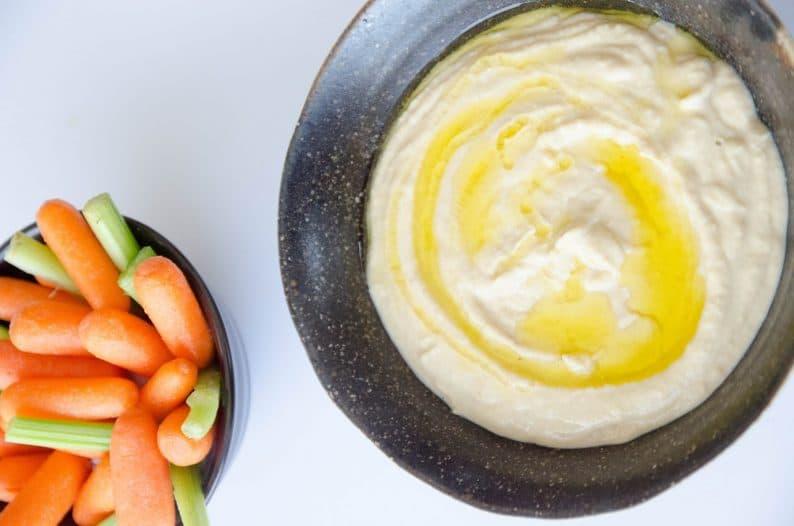 receita fácil de pasta de grão de bico