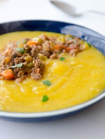 Receita de sopa de mandioquinha com carne moida