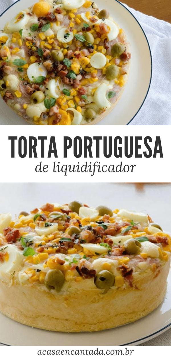 Torta portuguesa de liquidificador
