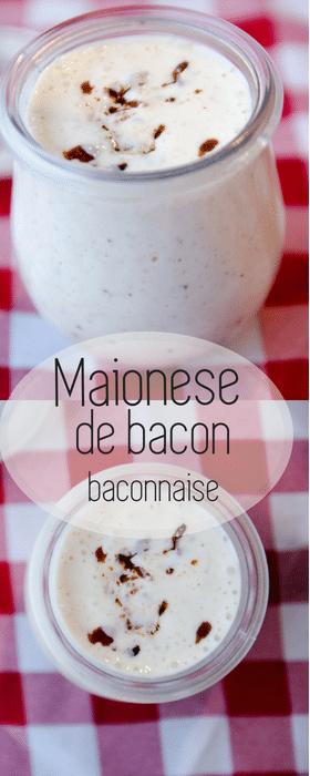 Maionese de bacon para hambúrger - baconnaise caseira