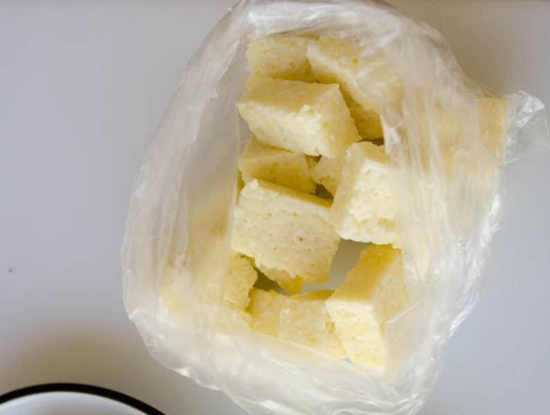 dadinhos de tapioca congelados
