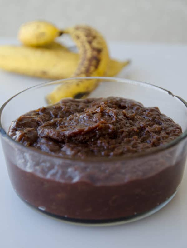 receita de doce de banana com chocolate