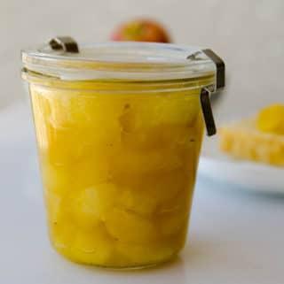 doce de maça e laranja (compota caseira de maçã)
