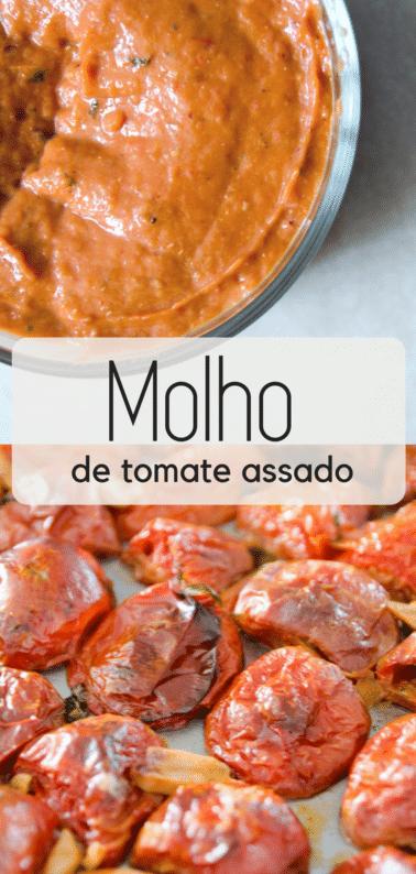Faça em casa um delicioso e fácil molho de tomates assados, super fácil de fazer, o tomate e seus temperos caramelizam no forno, depois disso é só bater no liquidificador!