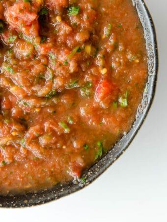 salsa mexicana de tomate