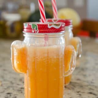 receita de suco de cenoura, maçãs e laranja