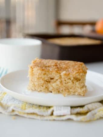 Receita fácil de bolo de laranja vegano