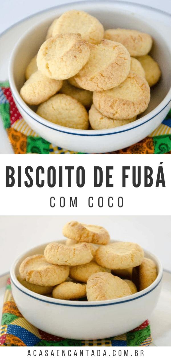 biscoito de fubá com coco
