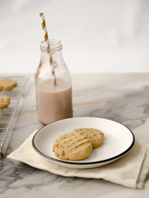 Receita de cookie de manteiga de amendoim.