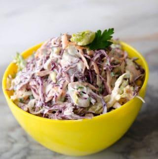 receita de coleslaw - salada de repolho com maionese super fresca