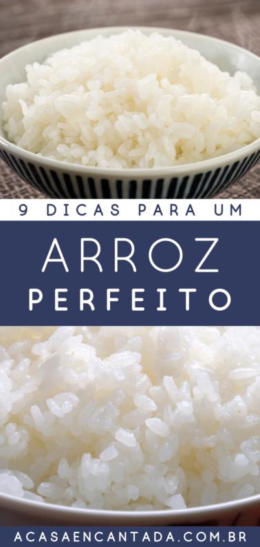 Como fazer arroz branco - 9 dicas